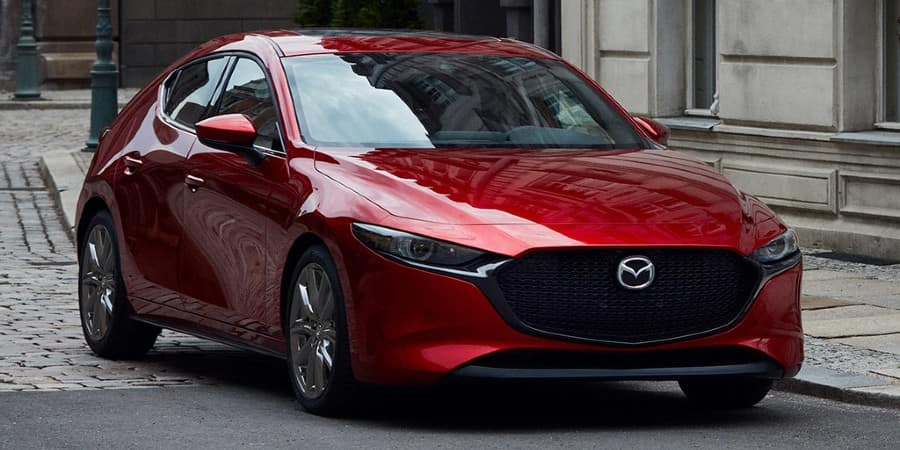A red 2020 Mazda3 Sedan - El Dorado Mazda in McKinney, TX