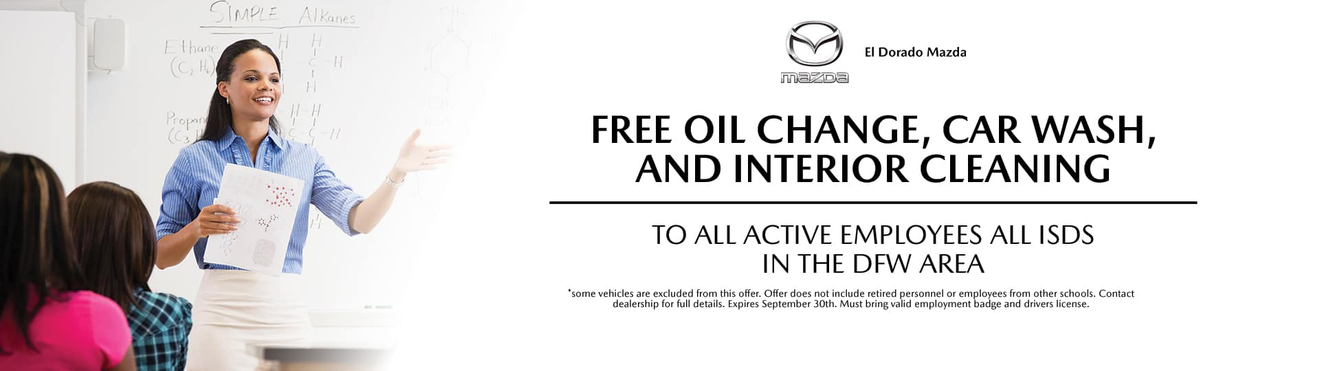 Free oil change, car wash, and interior cleaning | El Dorado Mazda in McKinney, Texas