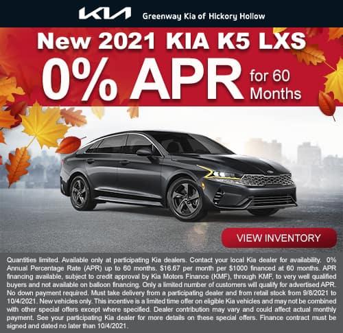 New 2022 Kia K5 LXS