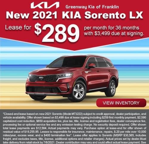 Kia Sorento July Special