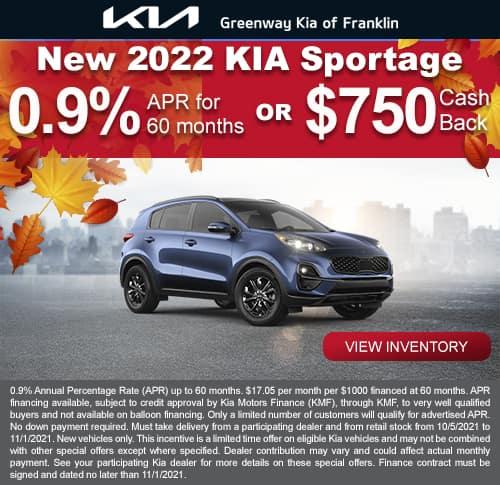 New 2022 Kia Sportage