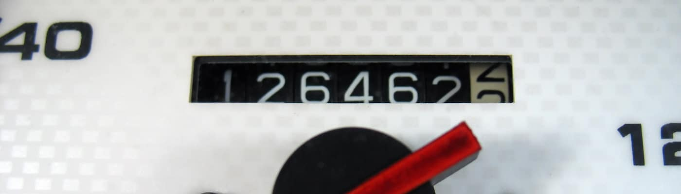 Close-up View of Odometer