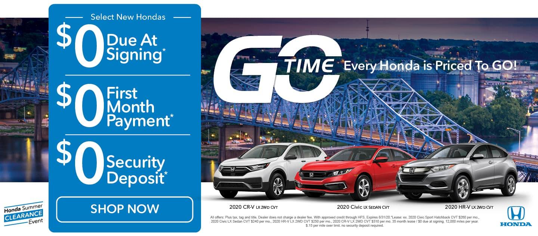 go time sales event - honda