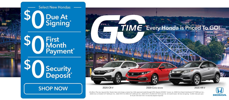 GO TIME - Select New Hondas