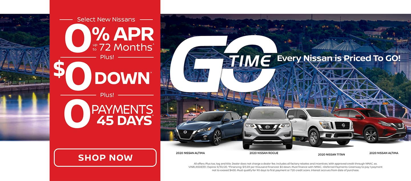 GO TIME - Select New Nissans