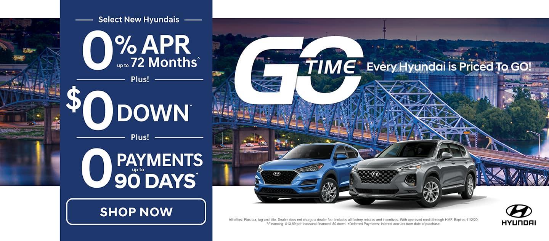 GO TIME - Select New 2020 Hyundais