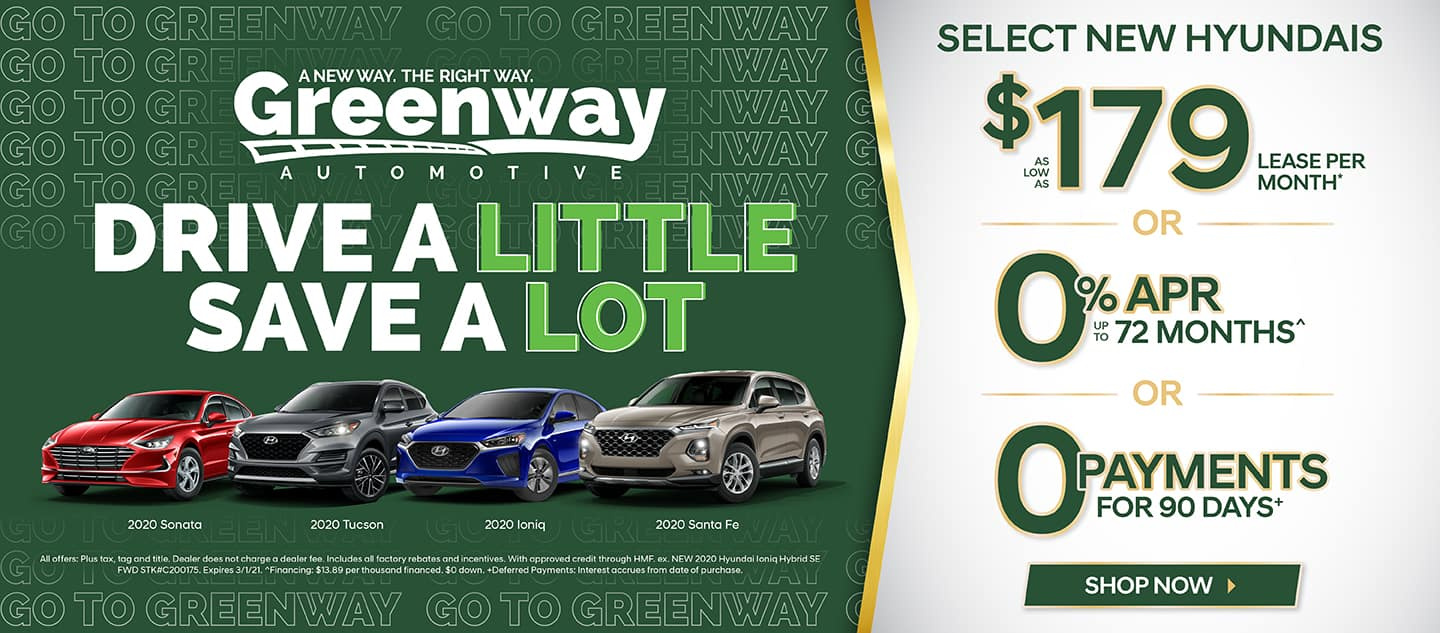 Select New Hyundais - Drive a Little Save a Lot!