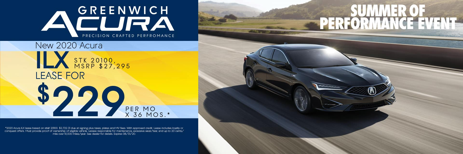 New 2020 Acura ILX Lease for $229 for 36mos. | Greenwich, CT