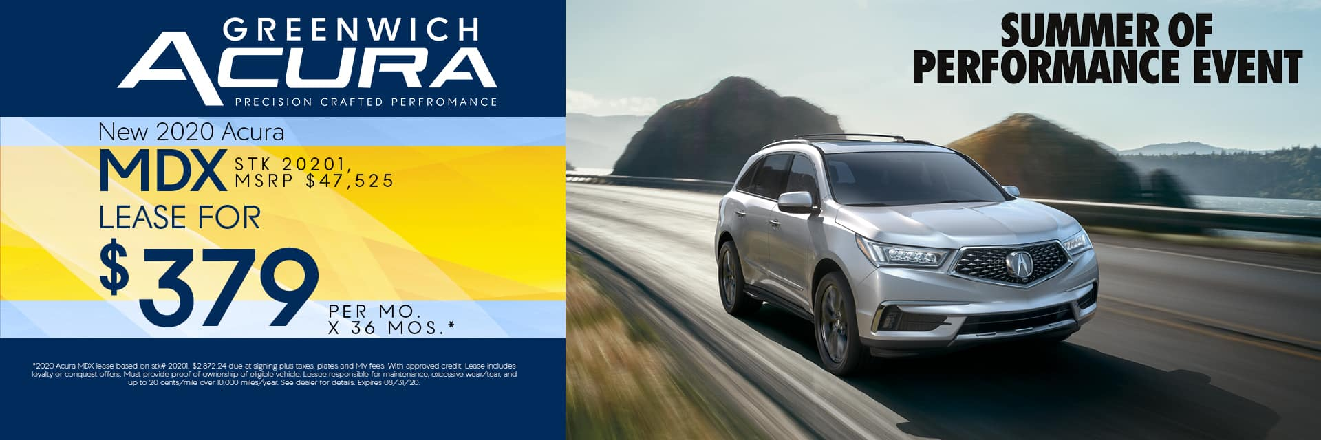 New 2020 Acura MDX Lease for $379 for 36mos. | Greenwich, CT