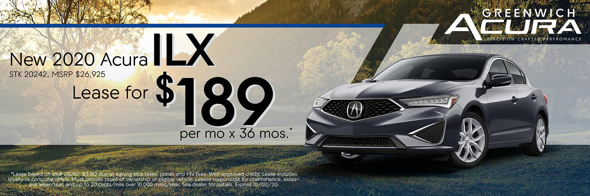 2020 Acura ILX, Lease for $189/Mo. x 36 Mos. | Greenwich, CT