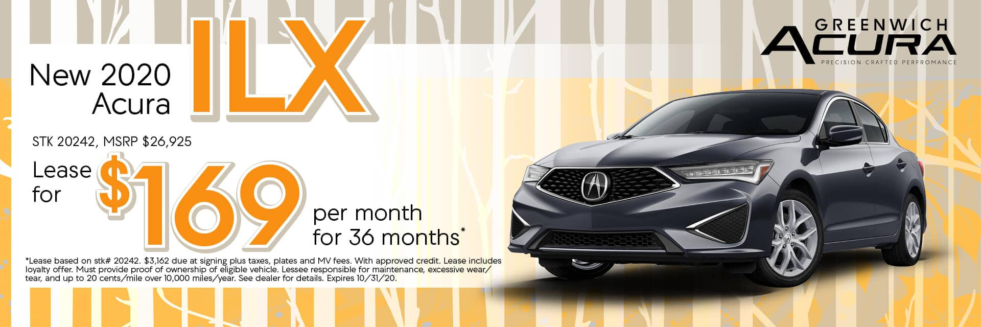 2020 Acura ILX | Lease for $169/mo. for 36 Mos. | Greenwich, CT
