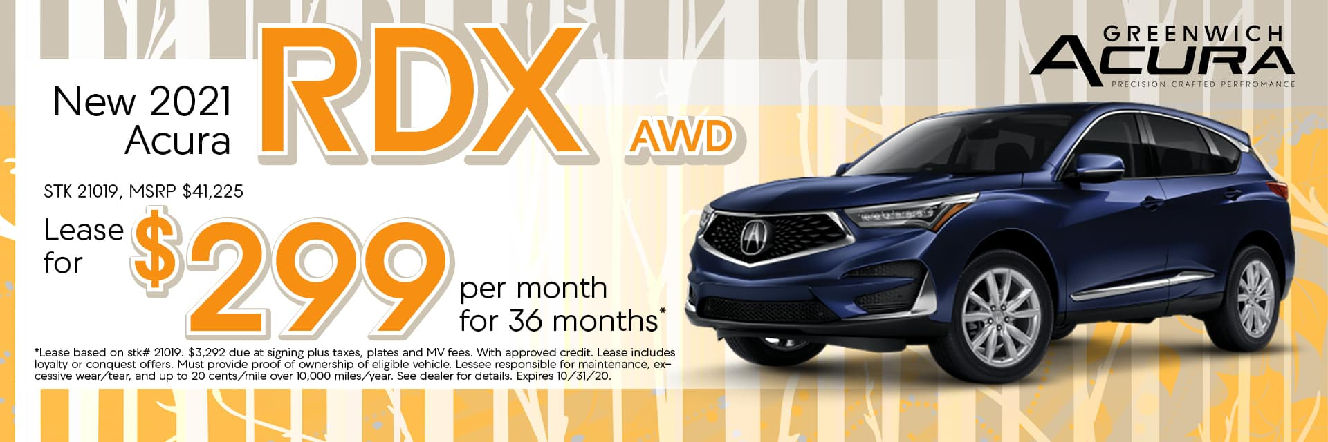 New 2020 Acura RDX, Lease for $299/Mo. x 36 Mos. | Greenwich, CT