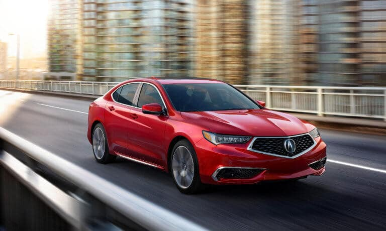 2020 Acura TLX exterior driving on city overpass