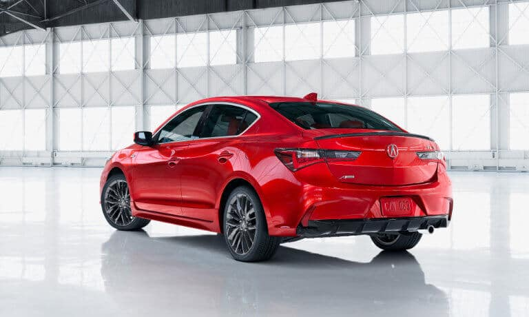 2020 Acura ILX exterior parked facing away in white garage