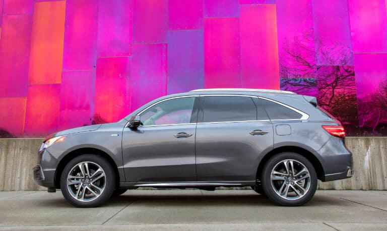 2020 Acura MDX exterior in front of colorful wall