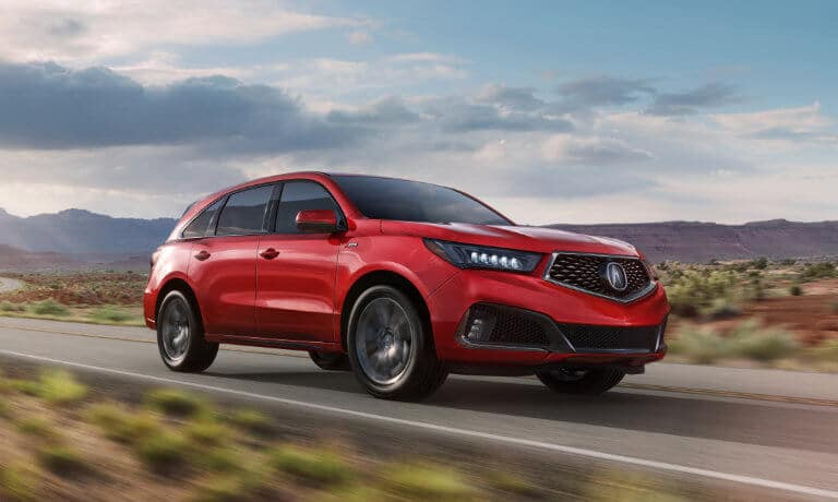 2020 Acura MDX exterior driving on desert highway