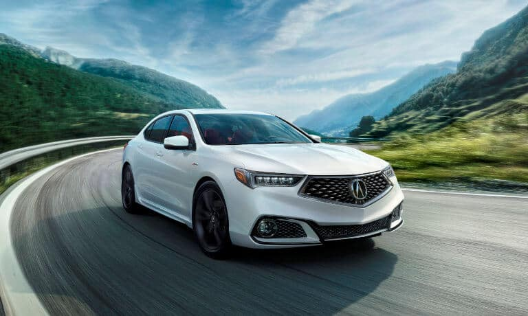 2020 Acura TLX exterior driving on rural highway