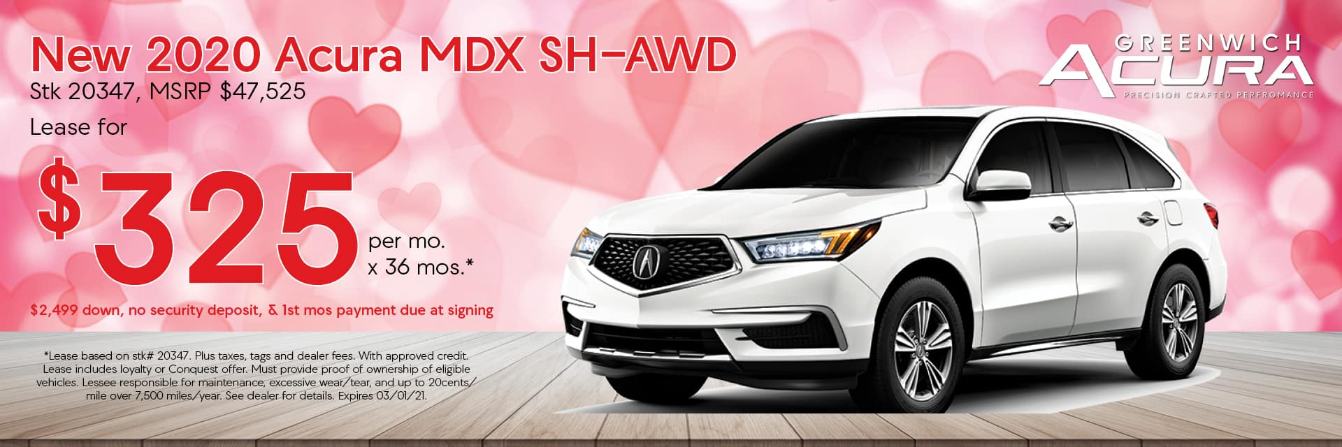 2020 Acura MDX | Lease for $299/mo. for 36 Mos. | Greenwich, CT