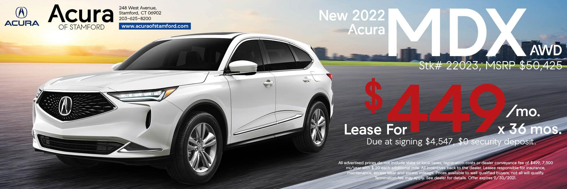 2022 Acura MDX Lease Offer | Acura of Stamford