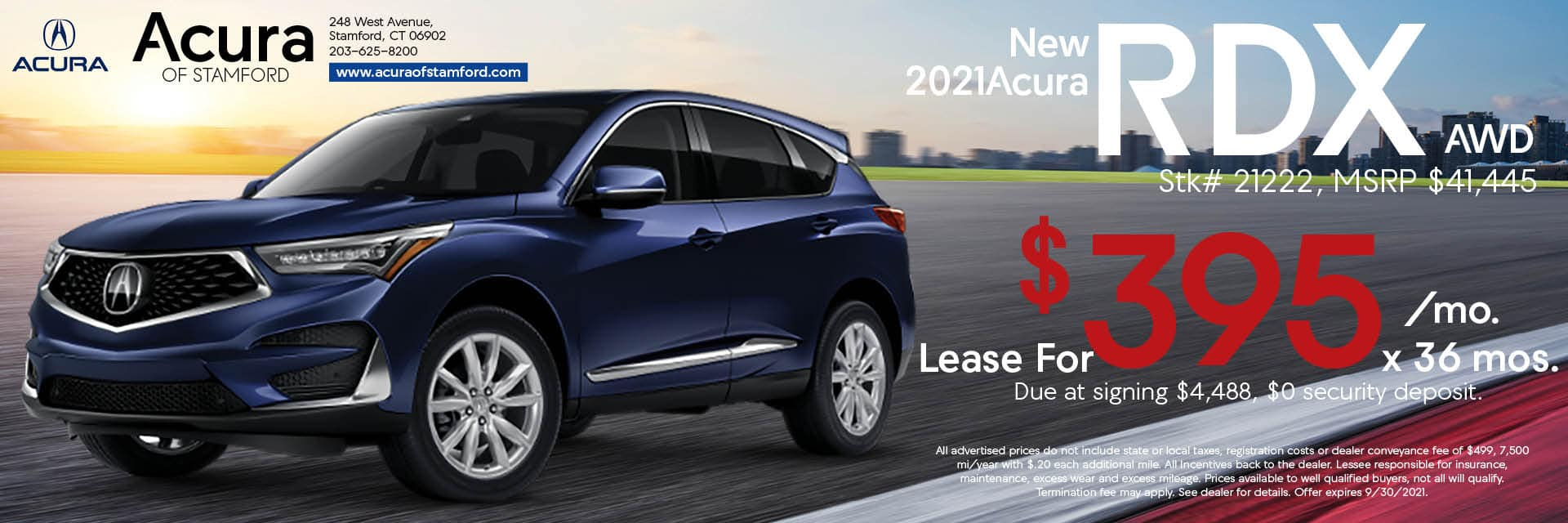 2021 Acura RDX Lease Offer | Acura of Stamford