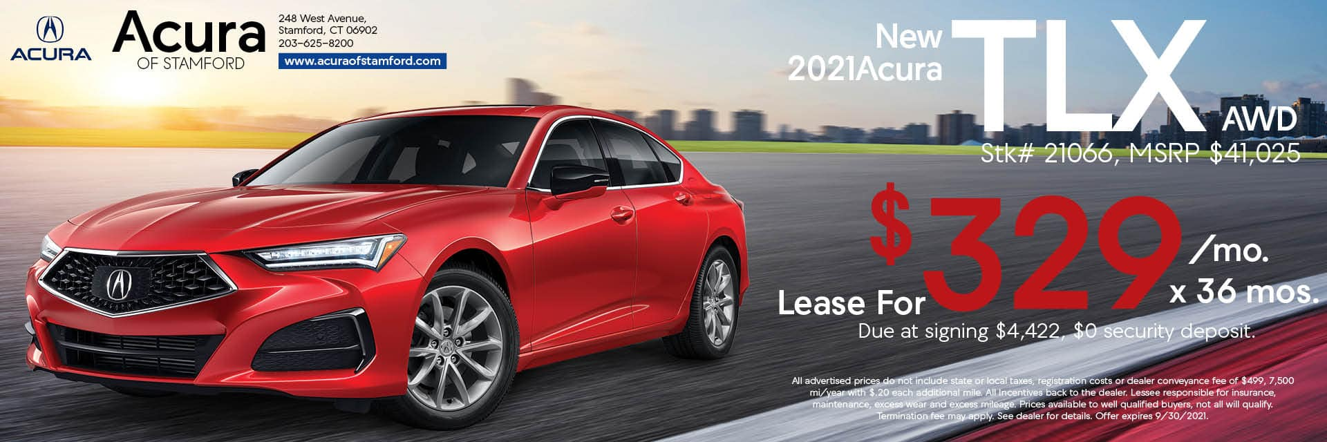 2021 Acura TLX Lease Offer | Acura of Stamford