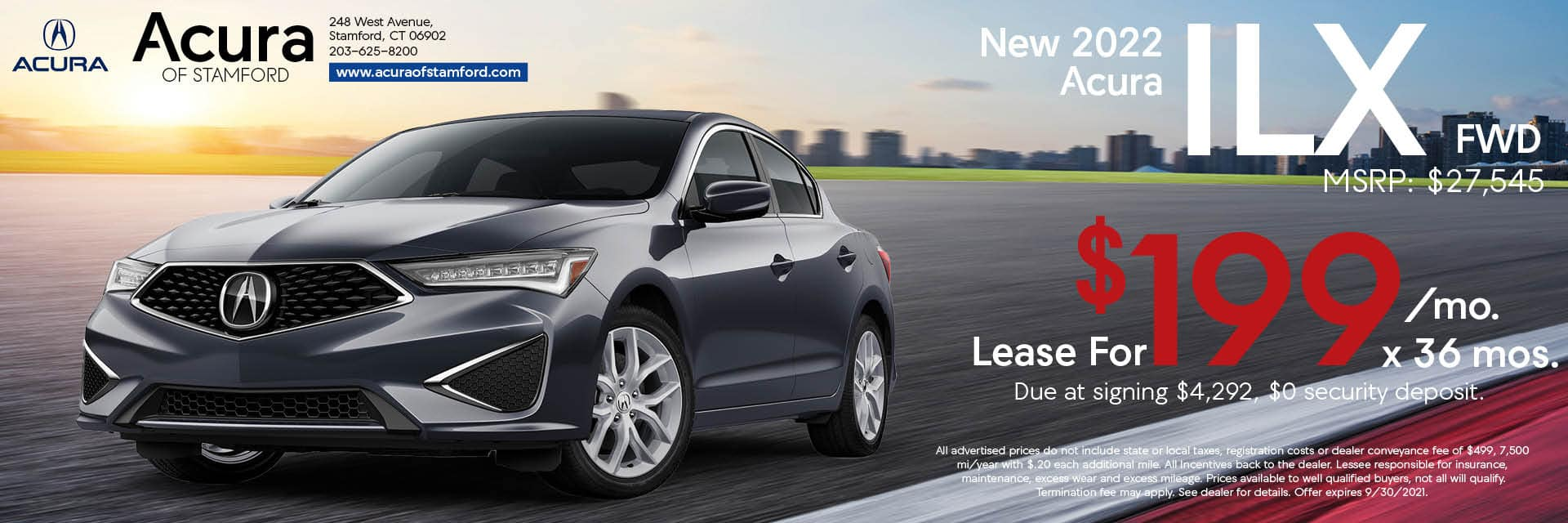 2022 Acura ILX Lease Offer | Acura of Stamford