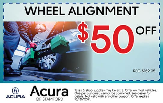 Wheel Alignment Special   Acura of Stamford