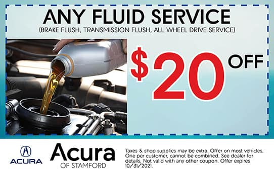 Fluid Service Special   Acura of Stamford