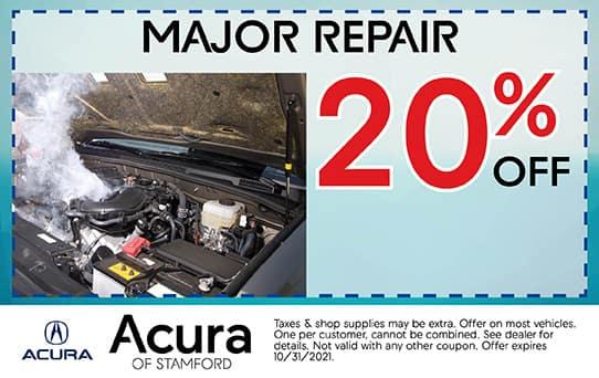 20% Off Major Repair   Acura of Stamford