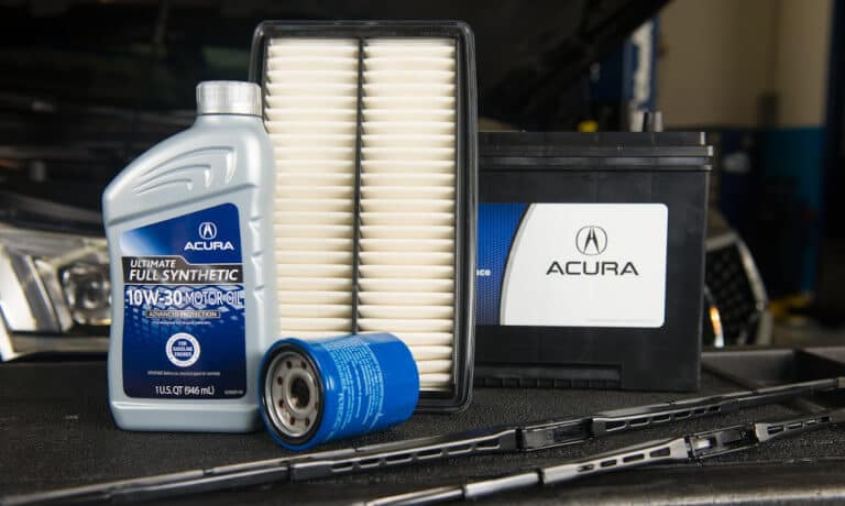 Acura parts - battery and filters