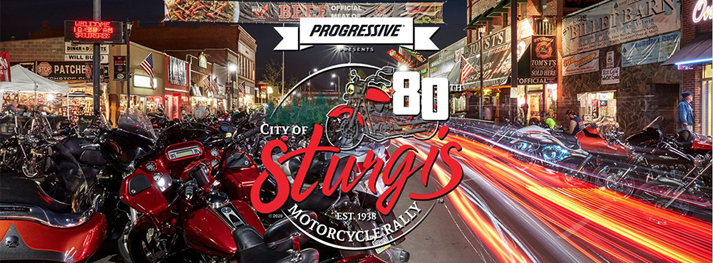 80th Annual Sturgis Motorcycle Rally Banner