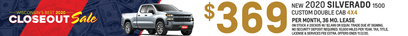 Lease a new Chevy Silverado for as low as $379/mo