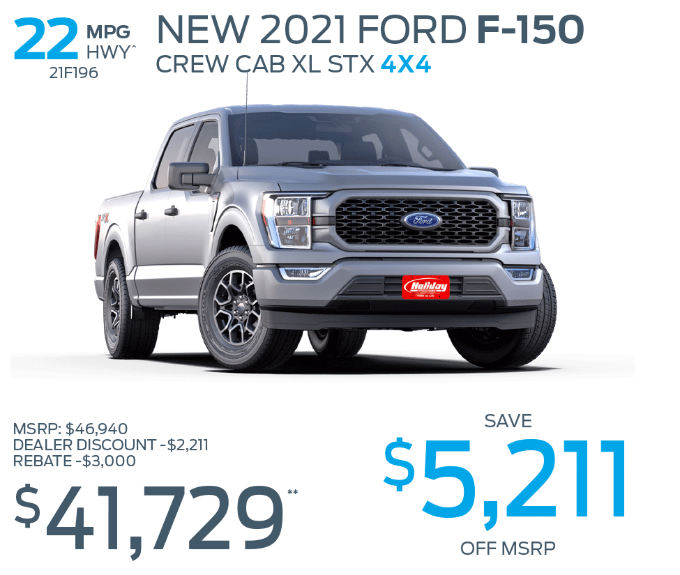 Save up to $5,211 on a new Ford F-150 STX 4X4