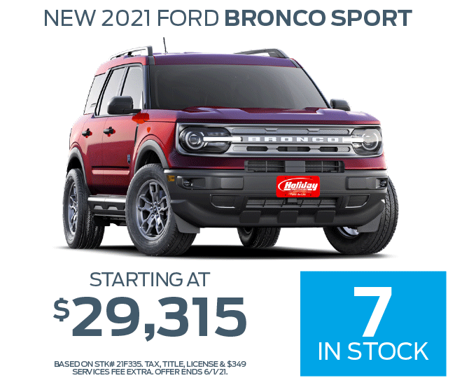 Buy a new Ford Bronco Sport starting at $29,315