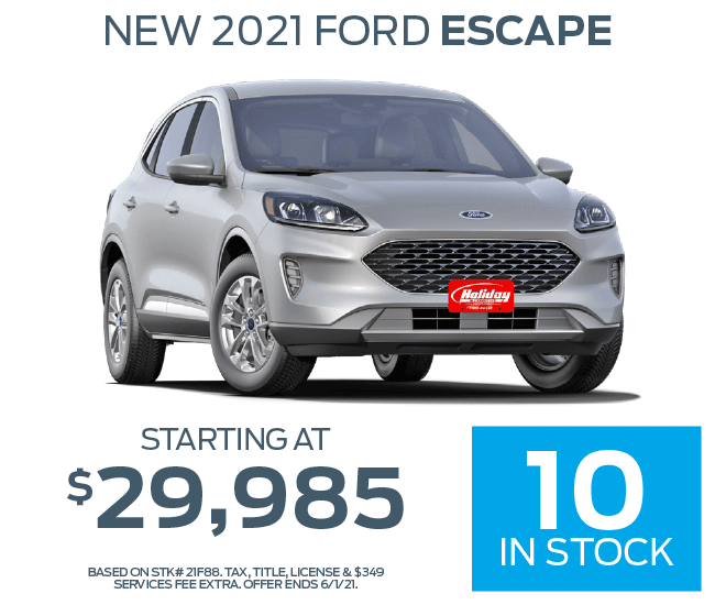 Buy a new Ford Escape starting at $29,985