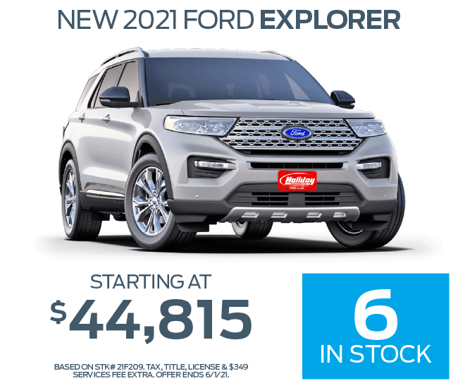 Buy a new Ford Explorer starting at $44,815