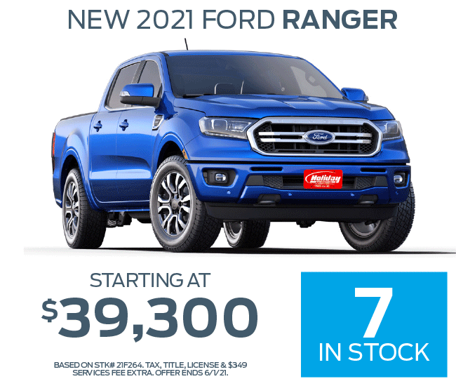 Buy a new Ford Ranger starting at $39,300