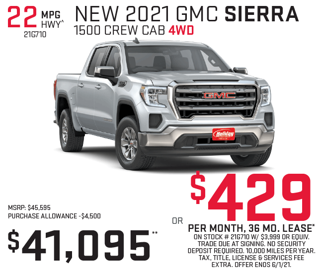 Lease a new GMC Sierra 1500 for as low as $429/mo for 36mo