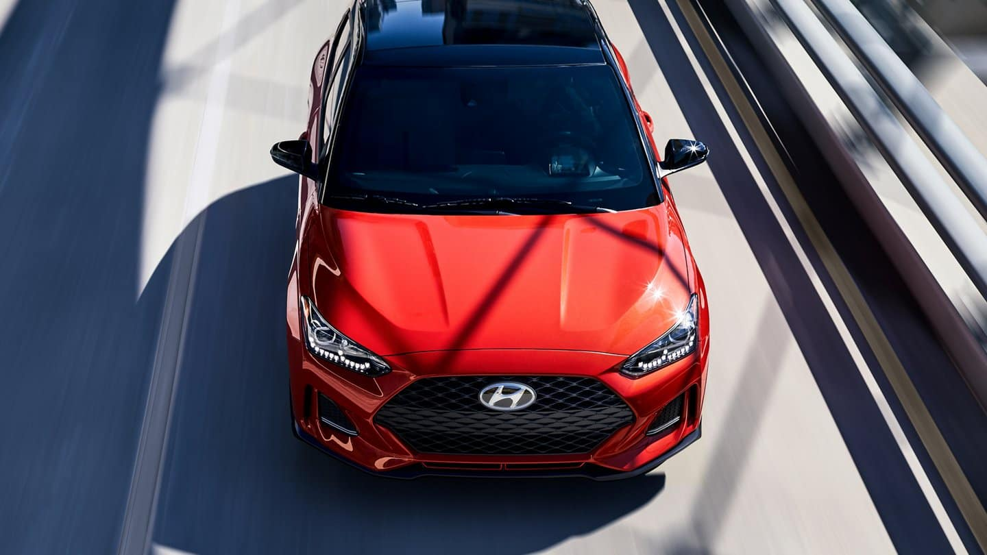 2021 Hyundai Veloster Red Front Exterior