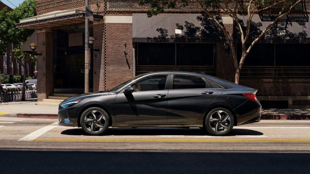 2021 Hyundai Elantra Silver Side Exterior
