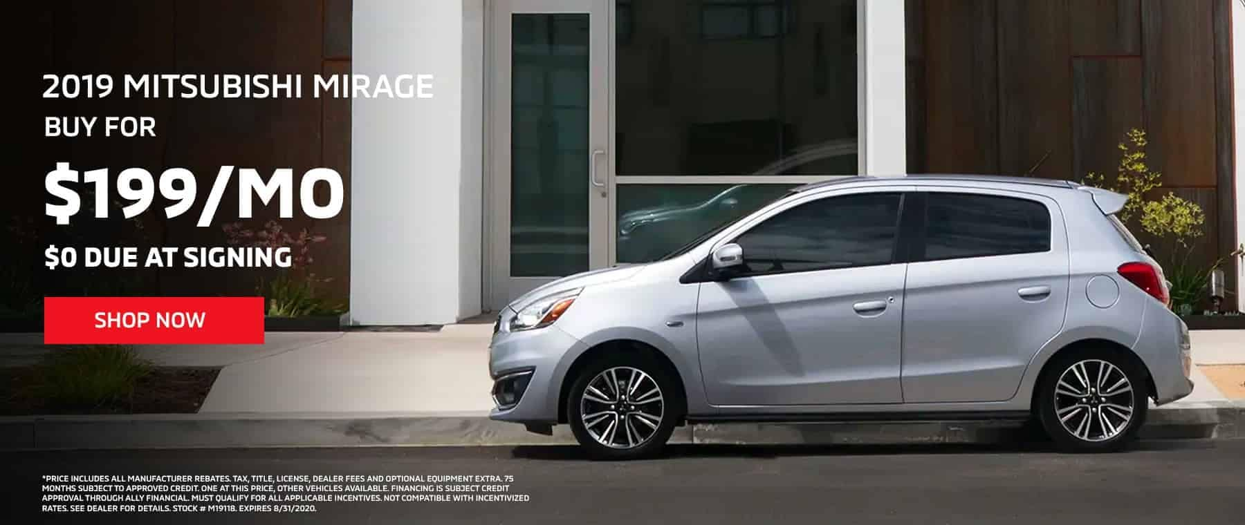 2019 MIRAGE – AS LOW AS $199 PER MONTH