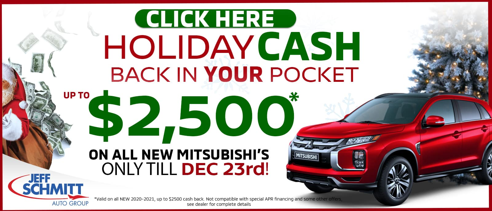 Holiday Cash up to $2,500