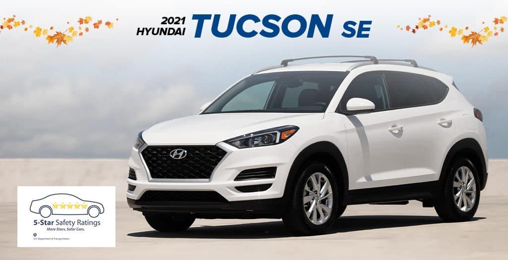 <center> 2021 Hyundai Tucson SE </center>