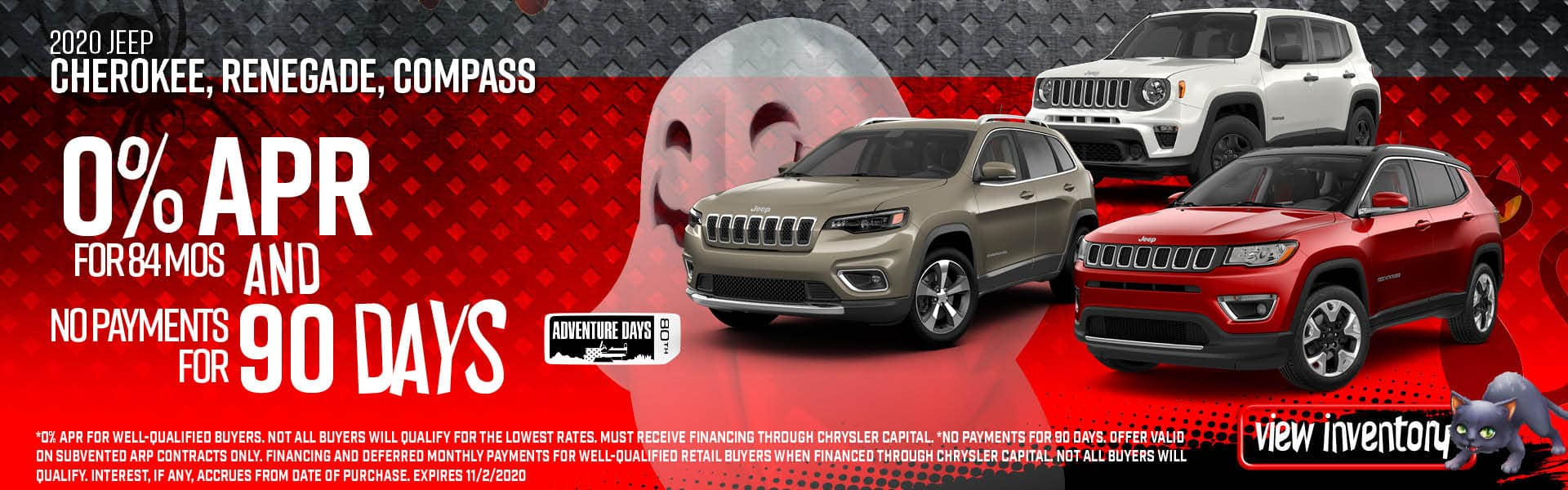 Jeep 0% for 84 Months