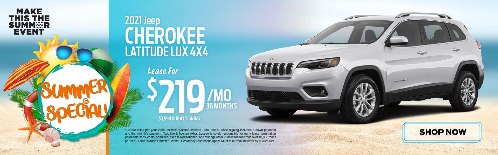 2021 Jeep Cherokee Latitude LUX 4x4
