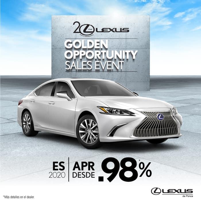 2020 Lexus ES350 & ESh desde .98%APR