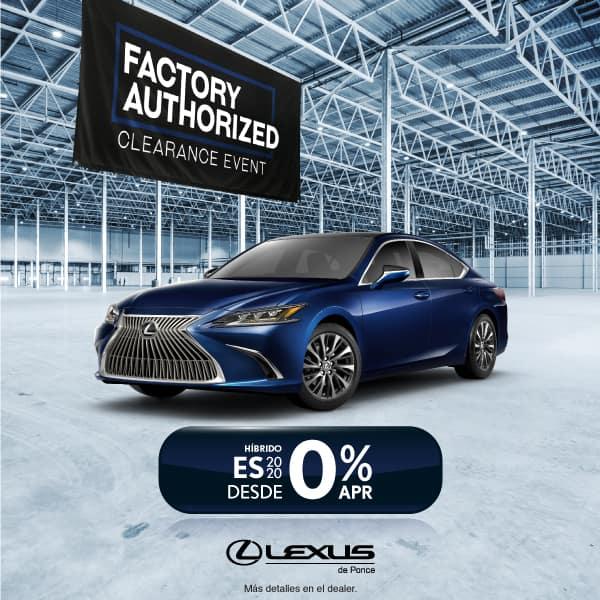 2020 LEXUS ES350 DESDE 0% APR