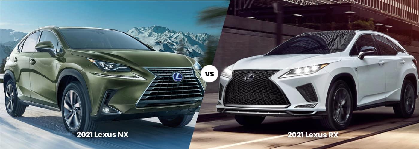 2021 Lexus NX vs 2021 Lexus RX