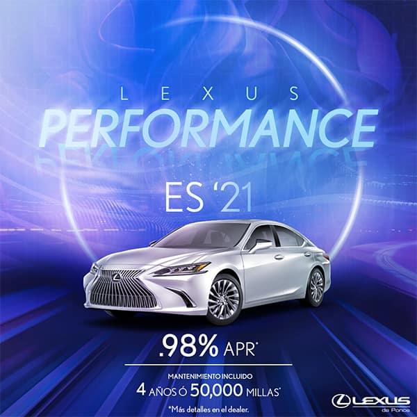 Lexus Performance ES 2021 from 0.98% APR