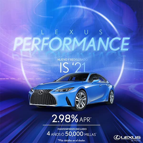 LEXUS PERFORMANCE IS 2021 STARTING AT 2.98%